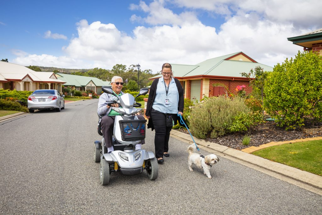 Community connection in aged care facililties