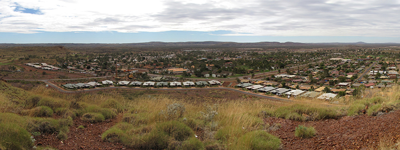 View of a settlement in the Pilbara region, WA.